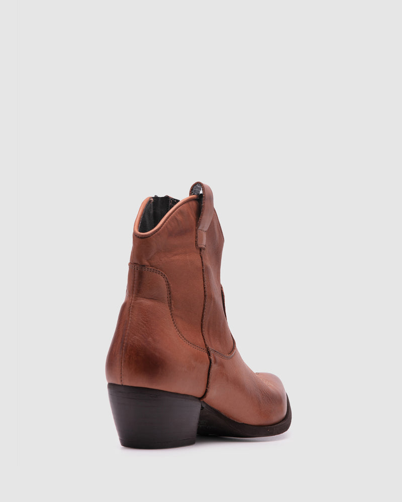 mainland boot - cognac
