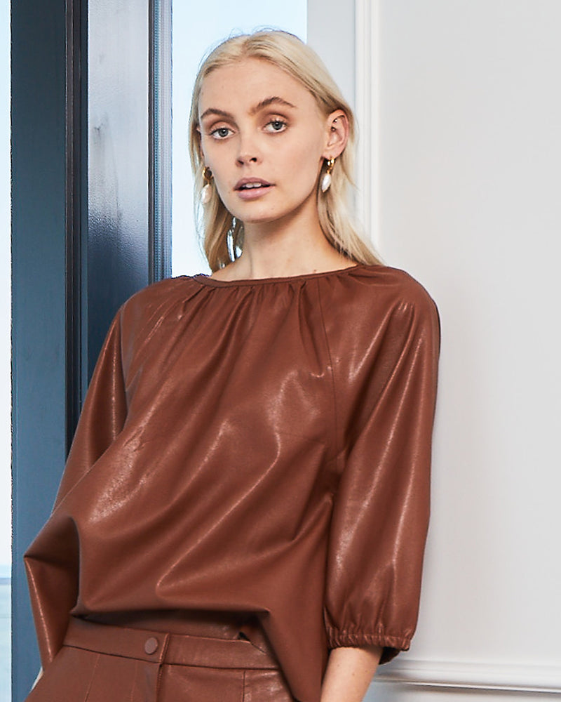 raft top - cognac