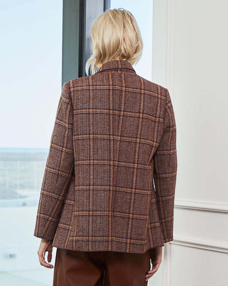 tangent jacket - shiraz tweed