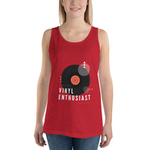 Load image into Gallery viewer, VINYL ENTHUSIAST Unisex Tank Top