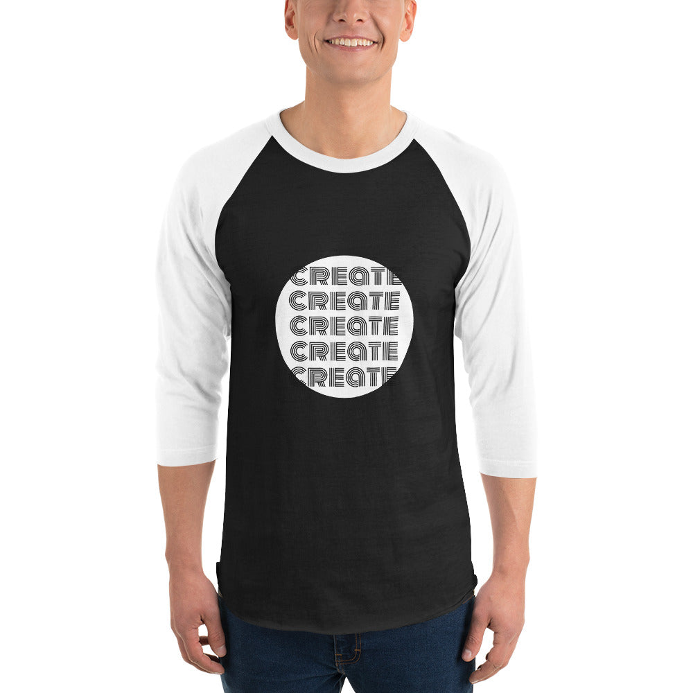 CREATE 3/4 sleeve raglan shirt