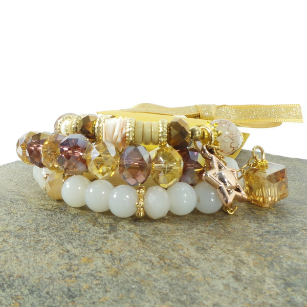 IVORY STAR WOMEN'S CRYSTAL STACKABLE STRETCHY BRACELET