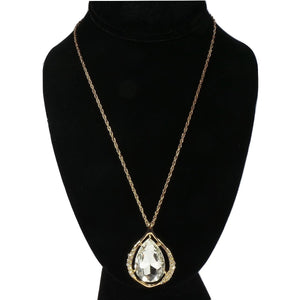 Gold Crystal Ornament Necklace
