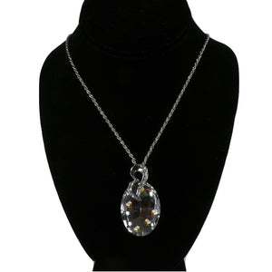 Crystal Silver Ornament Necklace