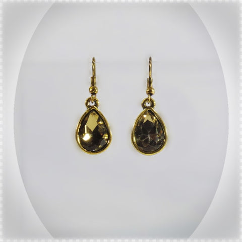 GOLDEN SHADOW TEARDROP EARRINGS