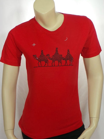 Small 3 Kings Red Short Sleeve Round Neck Tee