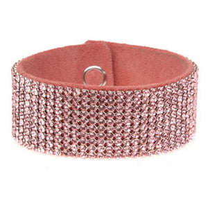 MESH CUFF-10ROW-LT. ROSE