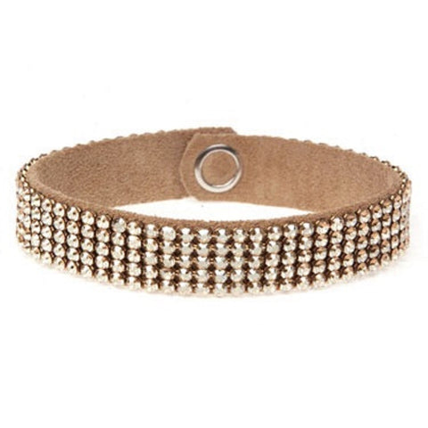 MESH CUFF-5ROW-GOLDEN SHADOW