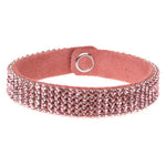 MESH CUFF-5ROW-LT. ROSE
