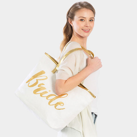 BRIDE TOTE BAG-GOLD