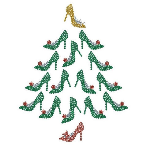 Christmas Shoe Tree.Christmas Sparkly Life By Terri