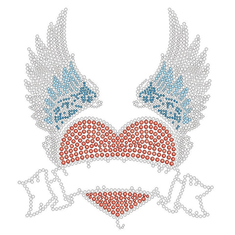 HEART WITH WINGS KIDS RHINESTONE T-SHIRT
