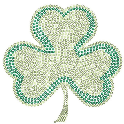 SHAMROCK LARGE KIDS RHINESTONE T-SHIRT