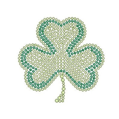 SHAMROCK SMALL KIDS RHINESTONE T-SHIRT
