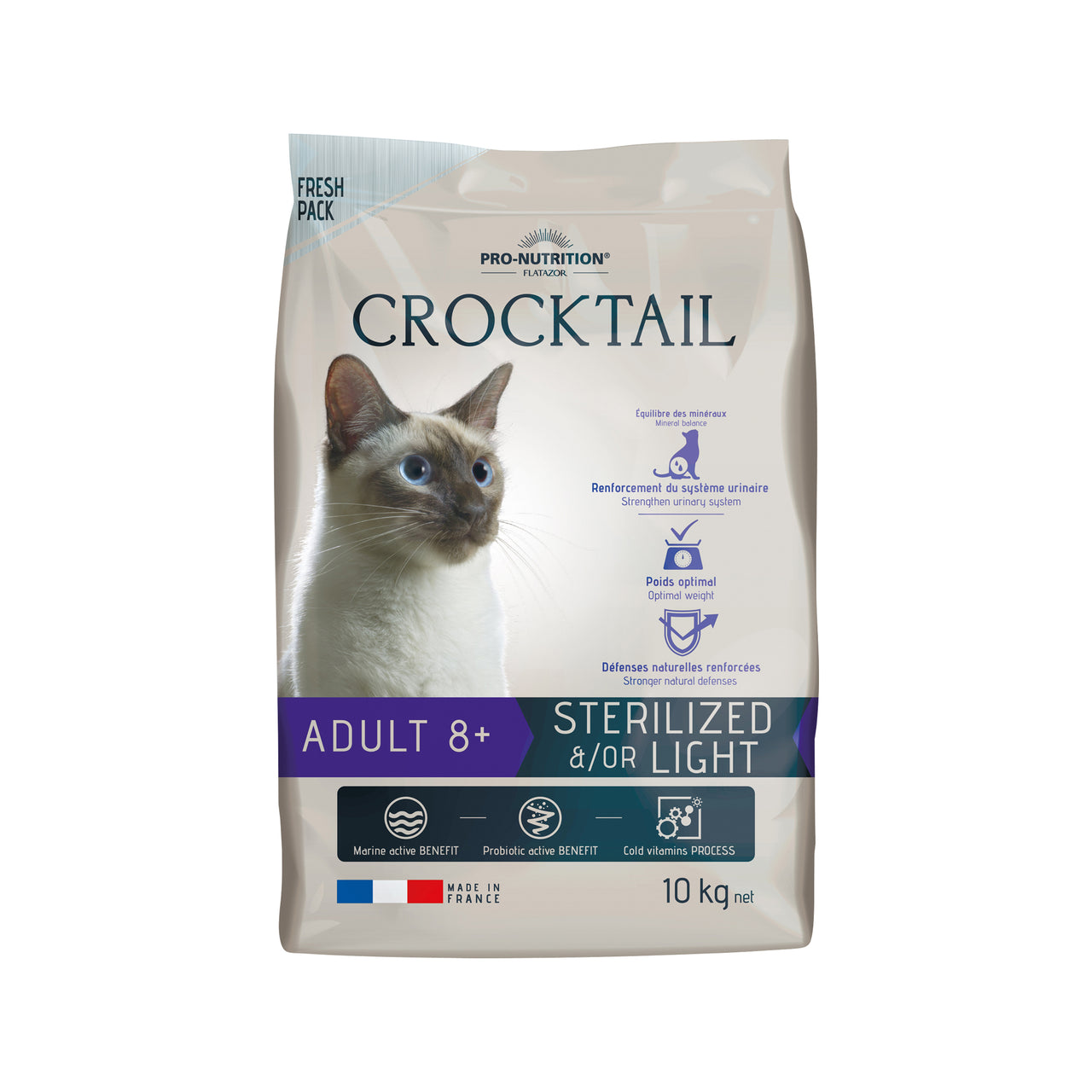 Crocktail Adult 8+ Sterilized / Light 10 kg