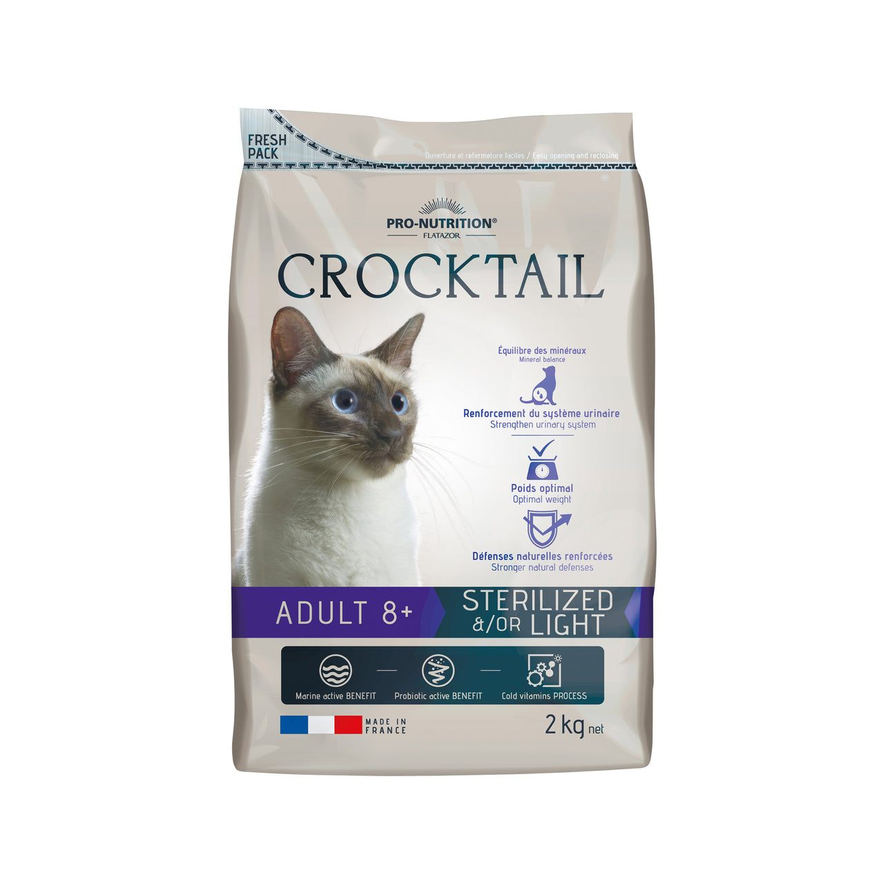 Crocktail Adult 8+ Sterilized / Light 2kg