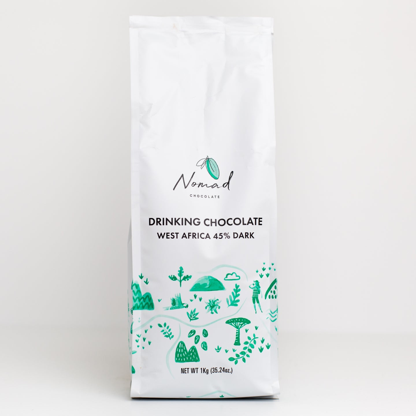 Nomad Drinking Chocolate 1kg – West African Blend 45%