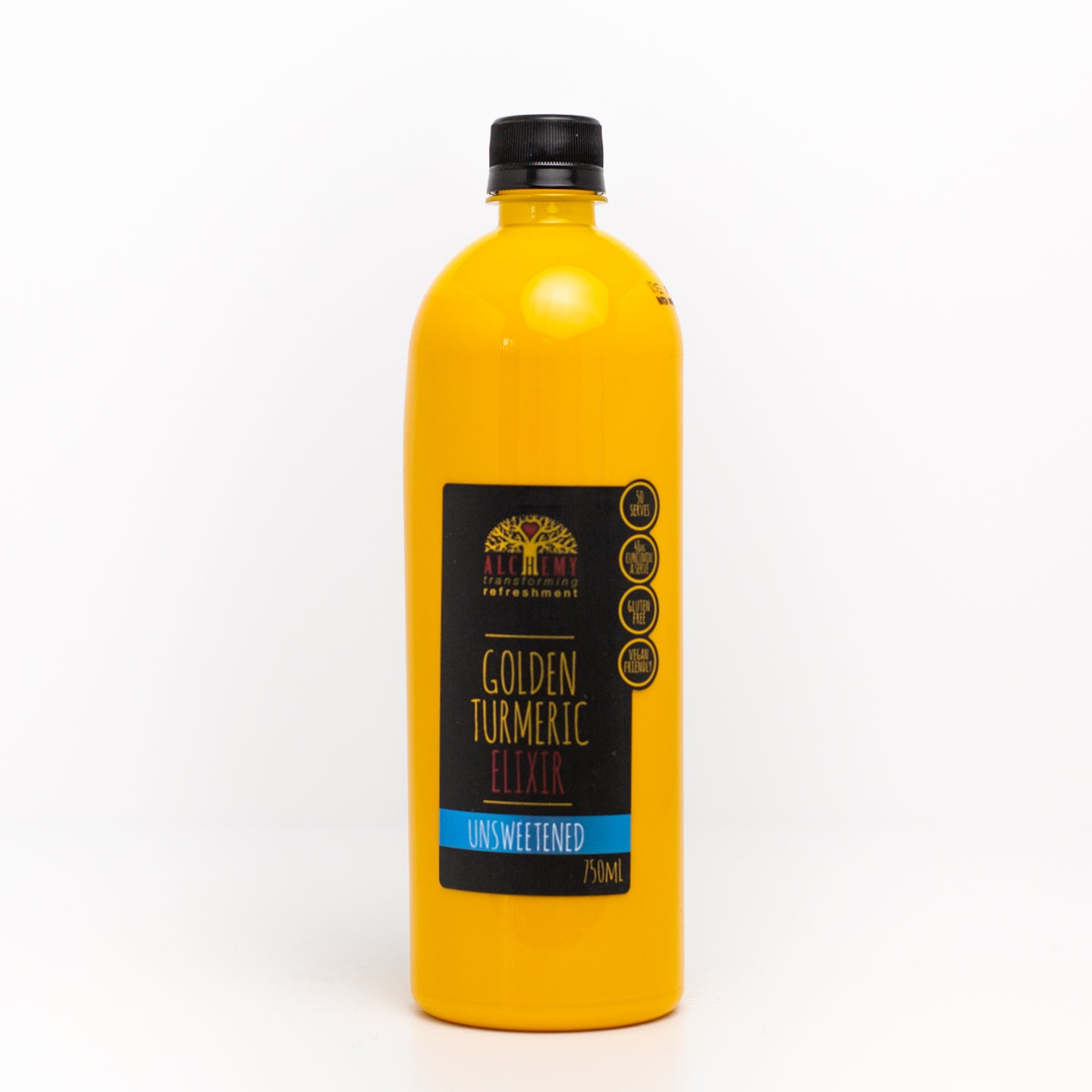 Golden Turmeric Elixir Unsweetened 750ml bottle