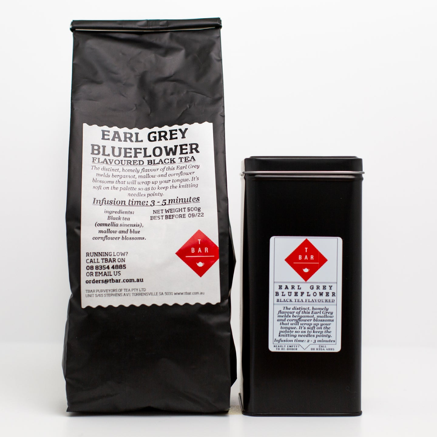 T-Bar Earl Grey Blueflower Loose Leaf Tea 500g