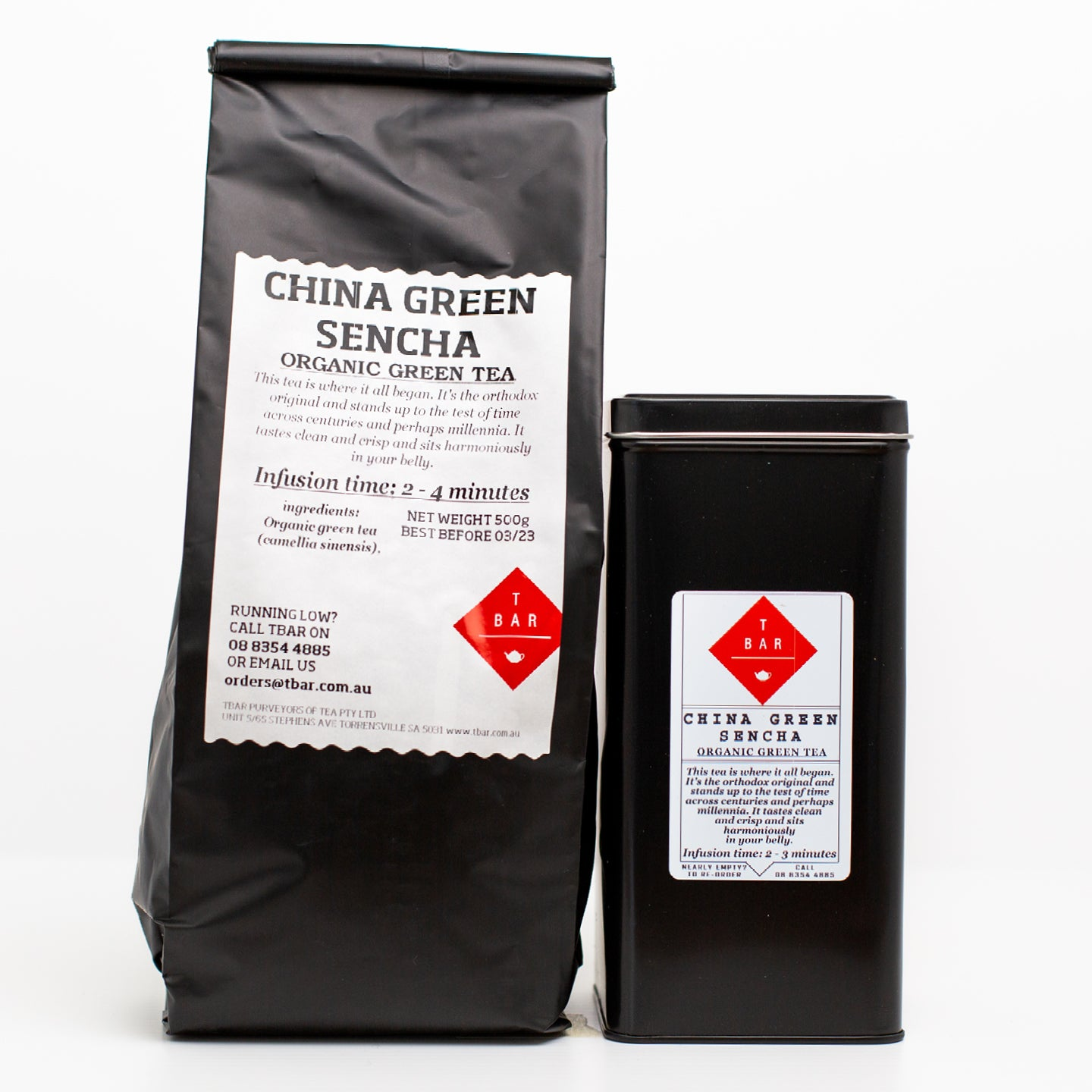 T-Bar China Green Sencha Organic Loose Leaf Tea 500g