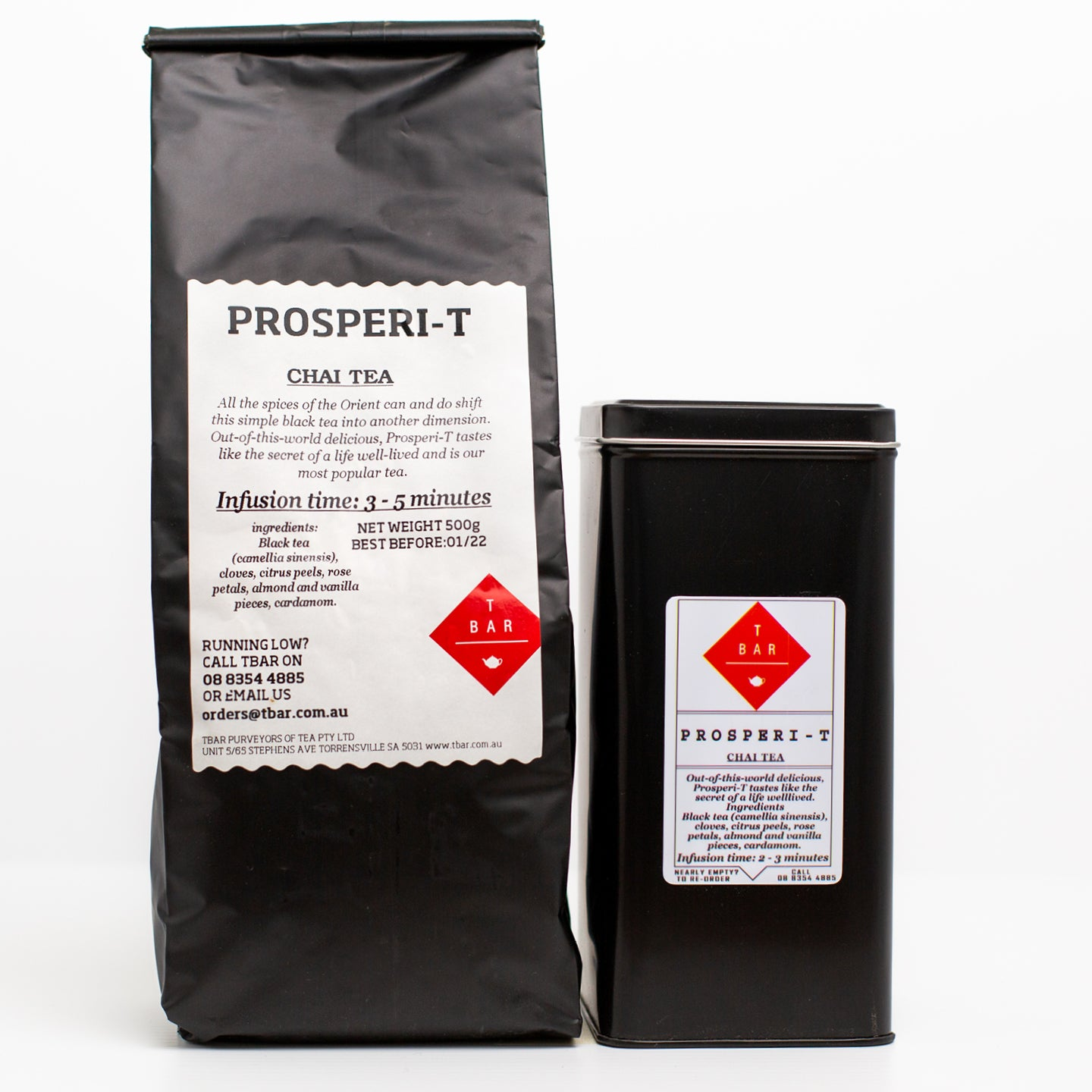 T-Bar Prosperi-T Chai Loose Leaf Tea 250g