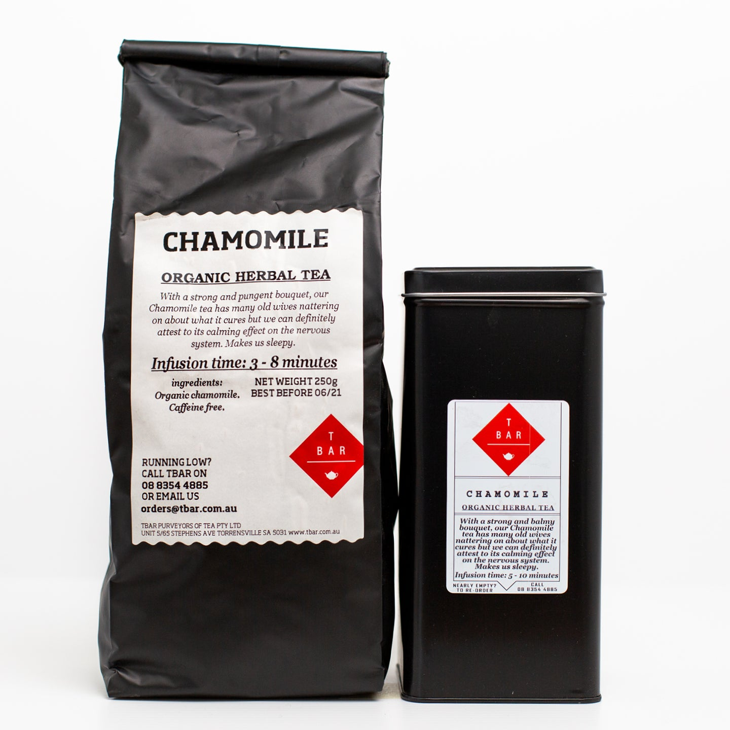 T-Bar Chamomile Organic Loose Leaf Tea 250g