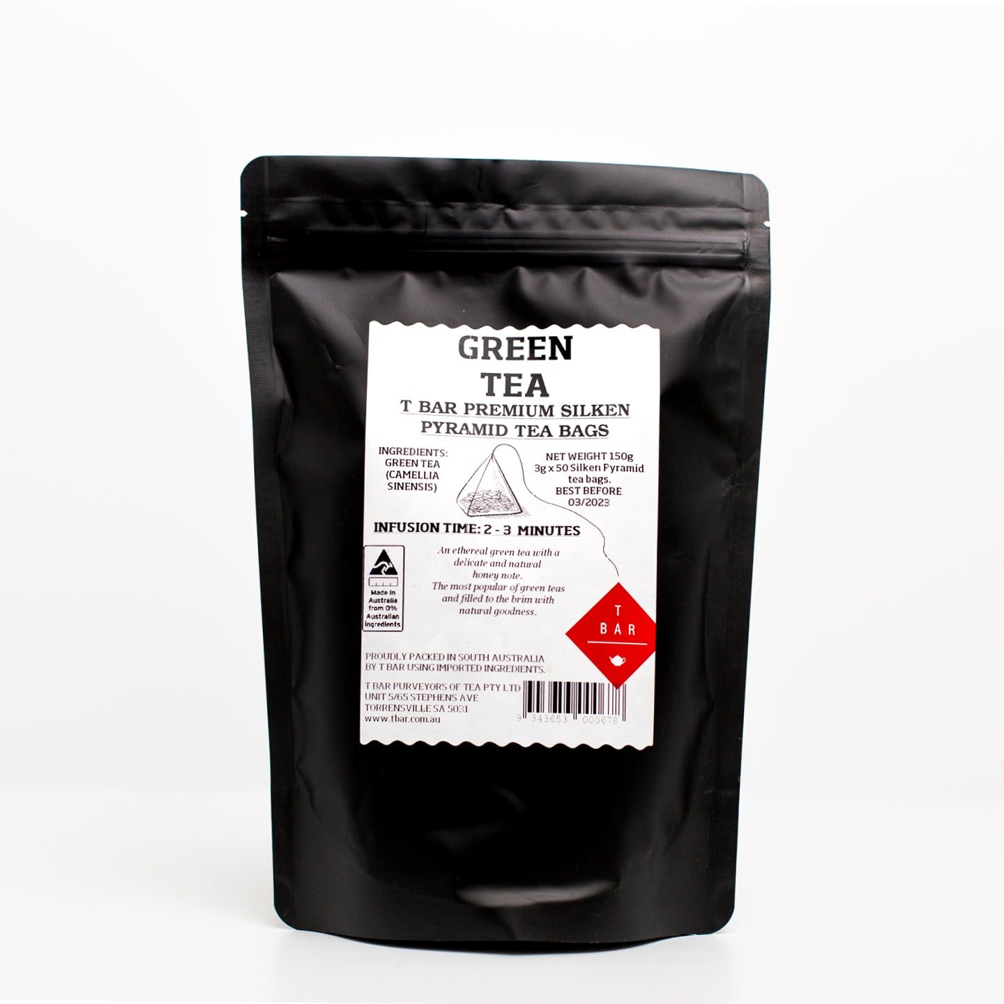 T-Bar Green Tea Bags