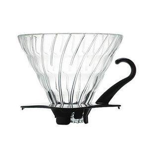 Hario V60 Glass Dripper 1 Cup Black
