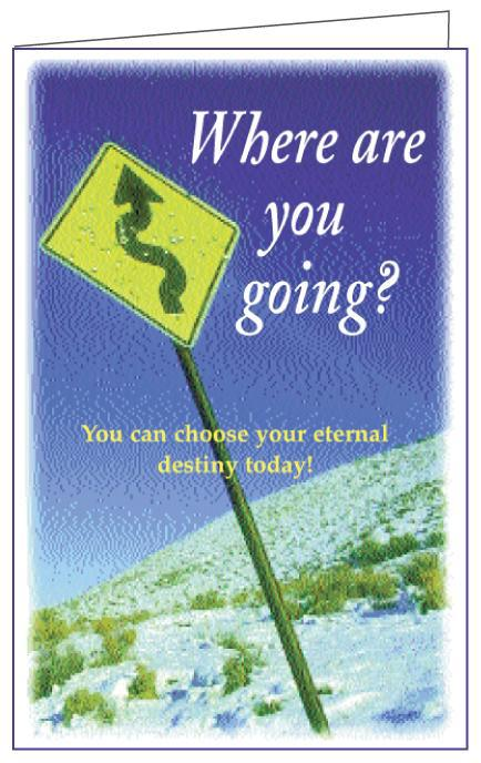 Where Are You Going? (250 Christian tracts)