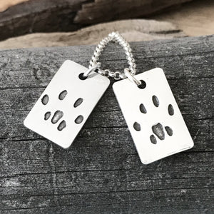 Paw Print Necklace - Fine Belcher