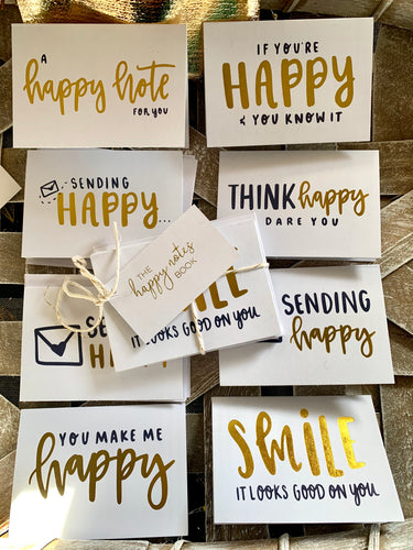 'Happy Notes' Mini Insert Cards (8-pack)