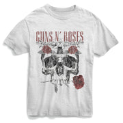Guns N' Roses Flower Skull - Mens T-Shirt