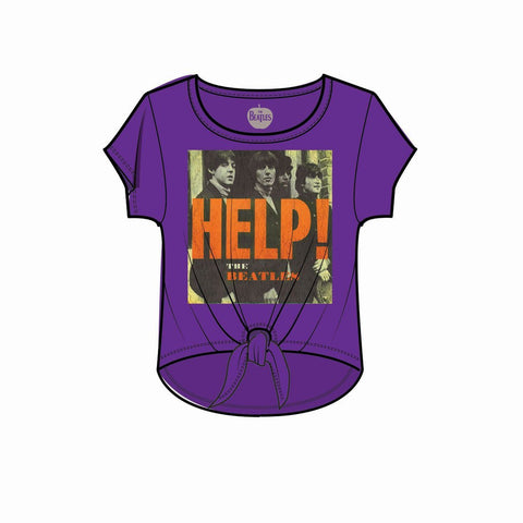 The Beatles Help! - Womens Purple T-Shirt