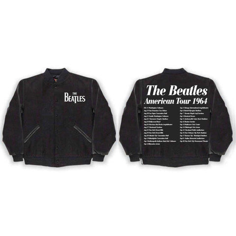 The Beatles Us 1964 - Mens Black Varsity Jacket