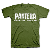 Pantera Kick Everybody's Ass - Mens Military Green T-Shirt