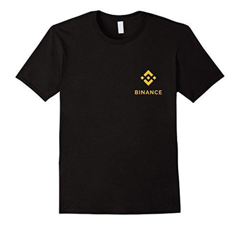 Mens Binance Coin BNB Logo Crypto T-Shirt Medium Black
