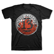 Black Sabbath Circle 13 - Mens Black T-Shirt