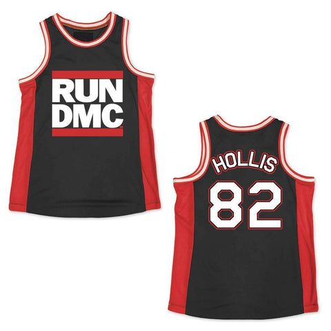 Run Dmc Black/Red Basketball Jersey