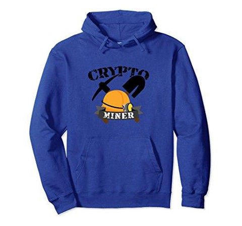 Unisex Crypto Miner Mining Concept Artwork Bitcoin Hoodie Gift Medium Royal Blue