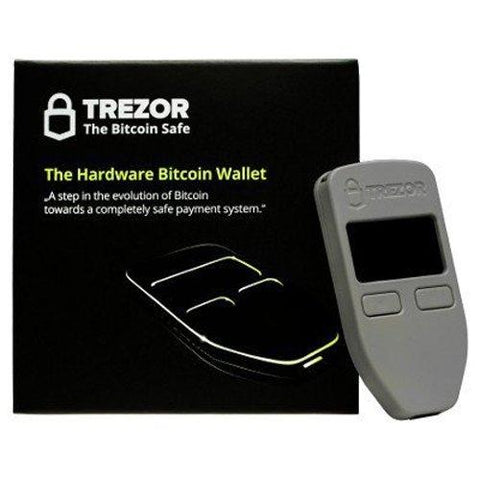 Trezor Grey bitcoin hardware wallet compatible with bitcoin, dash, zcash, ethereum