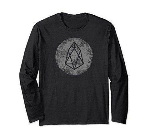 Unisex EOS Coin Crptocurrency Blockchain Crypto T shirts XL: Black