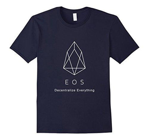 Mens EOS Logo Decentralize Everything T-Shirt Medium Navy