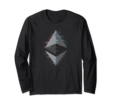 Unisex Ethereum | ETH Space Blockchain Crypto Long Sleeve Tshirt XL: Black