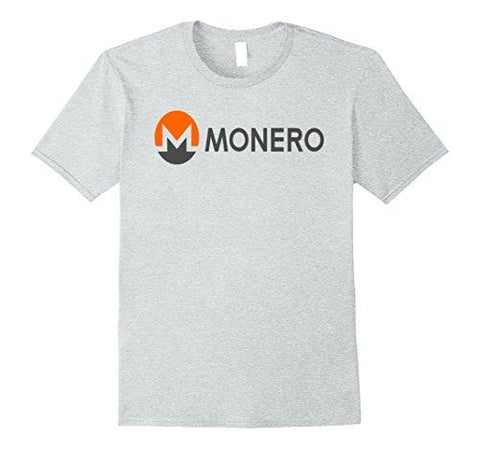 Mens XMR Monero 2017 Original Logo Crypto Tshirt Medium Heather Grey