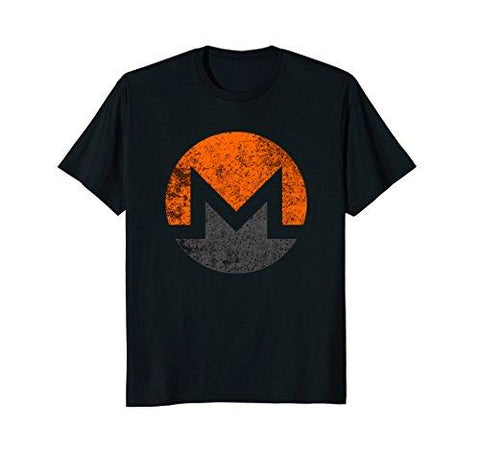 Monero XMR Distressed Vintage Style Cryptocurrency T-Shirt