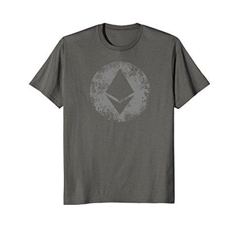 Mens Ethereum Crptocurrency Blockchain Crypto T shirts XL Asphalt