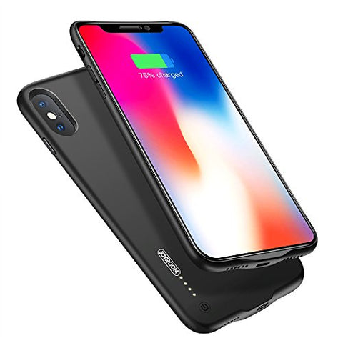 "iPhone X Battery Case, JOYROOM 3500mAh Slim Portable Rechargeable Extended Charge Case for Apple iPhone X/iPhone 10 (5.8"") with Magnetic Function, 3.5mm Jack Headphones Acceptable (Black)"