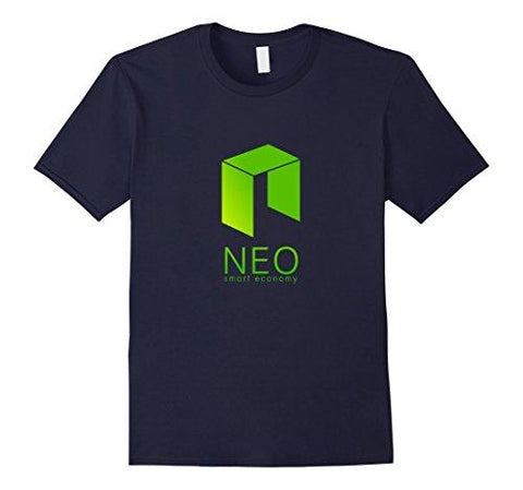 Mens NEO ANTSHARES Logo T Shirt Large Navy