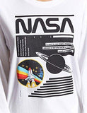 WLLW Women Long Sleeve Crew Neck NASA Letter Print Shirt Tops Blouse Sweatshirt
