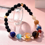 Menglina Stone Bead 'Universe Galaxy' Guardian Star Bracelet. The Eight Planets In The Solar System